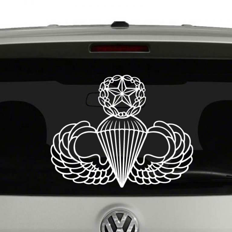 Army Master Airborne Parachutist Badge Wings Vinyl Decal Sticker