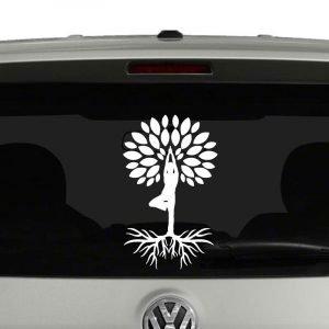 Yoga Tree Vrksasana Tree Pose Vinyl Decal Sticker