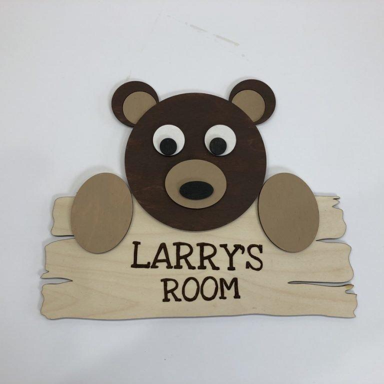 Baby Bear Name Sign Laser Cut Wood Crafting Kit