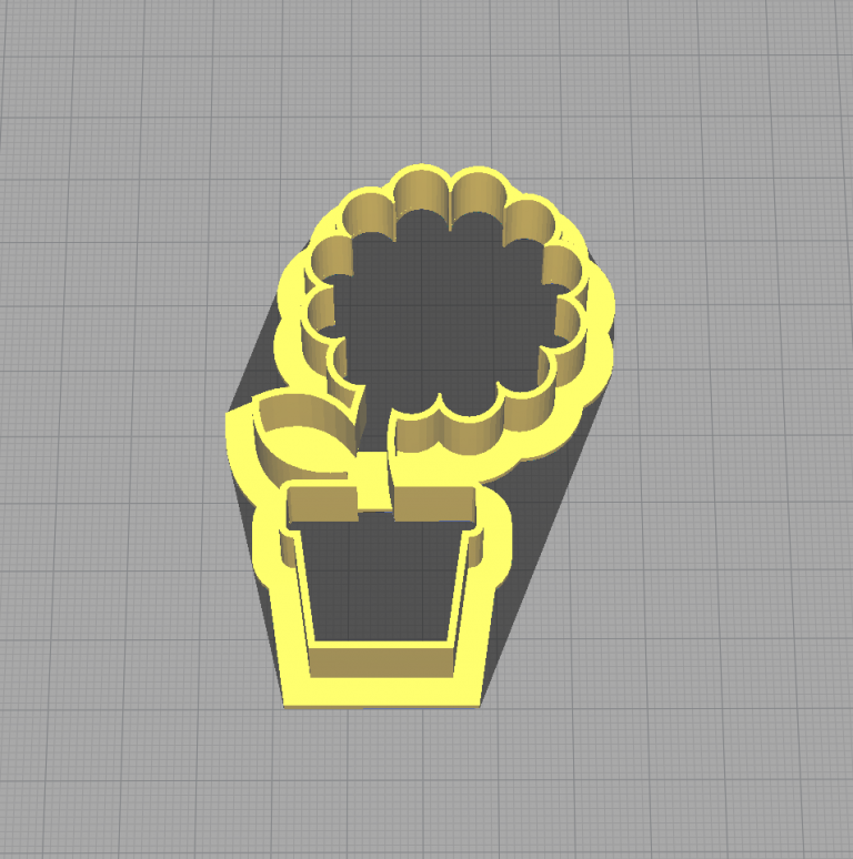 Flower Pot with Flower Plant Shaped Cookie Cutter