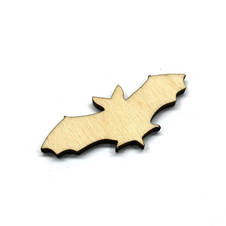 Flying Bat - Laser Cut Out Unfinished Wood Shape Craft Supply