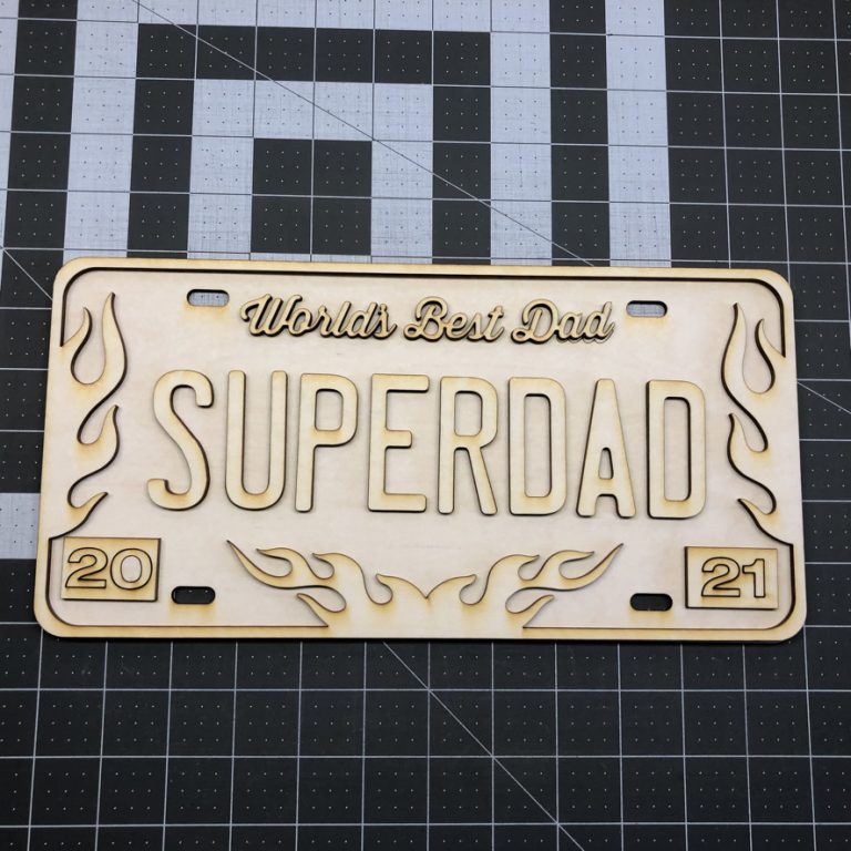 Dad Themed License Plates Laser Cut Crafting Kits