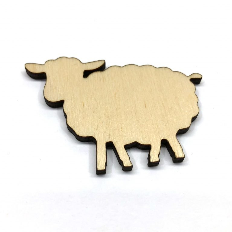 Sheep Lamb - Laser Cut Out Unfinished Wood Shape Craft Supply