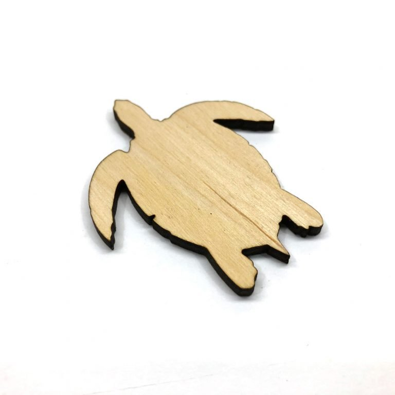 Sea Turtle - Laser Cut Out Unfinished Wood Shape Craft Supply