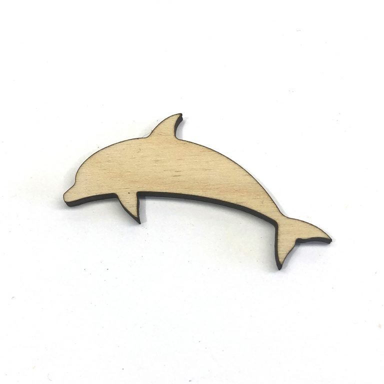 Dolphin - Laser Cut Out Unfinished Wood Shape Craft Supply