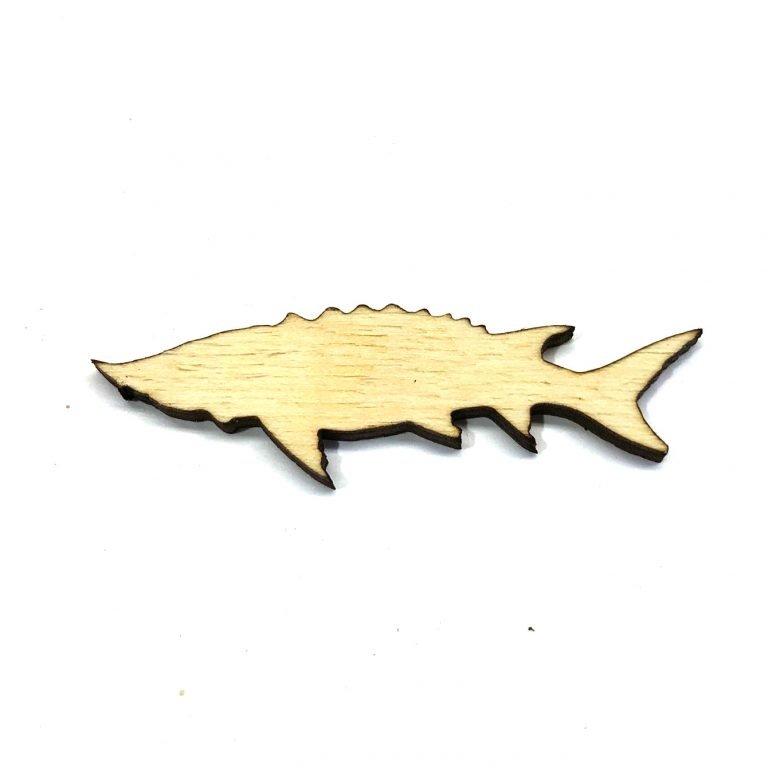 Sturgeon Fish - Laser Cut Out Unfinished Wood Shape Craft Supply
