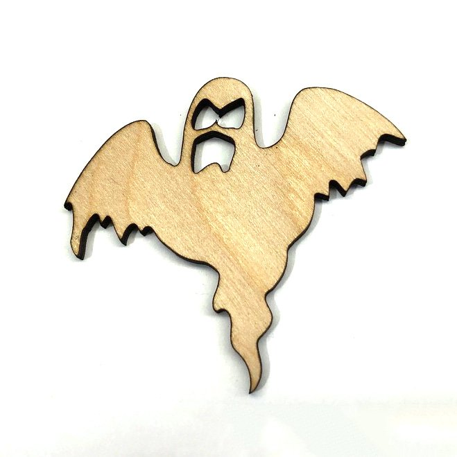 Ghost Halloween Laser Cut Out Unfinished Wood Shape Craft