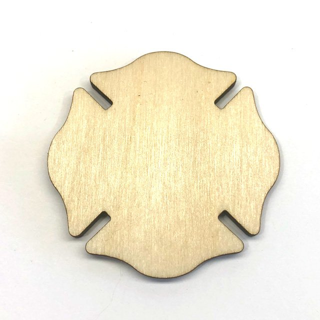 Maltese Cross Fire Depts - Laser Cut Out Unfinished Wood Shape Craft Supply