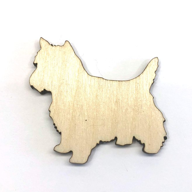 Cairn Terrier Dog Puppy - Laser Cut Out Unfinished Wood Shape Craft Supply