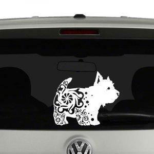 West Highland Terrier Dog Puppy Mandala Vinyl Decal Sticker
